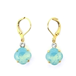 Clara Beau Pacific Opal Swarovski Crystal Earrings - Gold Tone