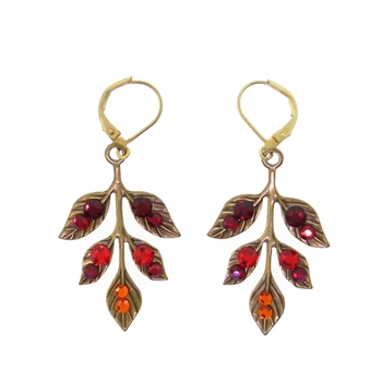Clara Beau Moonlight Swarovski Crystal Wire Earrings - Gold Tone