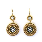 Clara Beau Gold and Silver Swarovski Earrings - Gold Tone