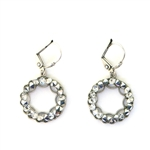 Clara Beau Silver Crystal Rocks Swarovski Earrings - Silver tone
