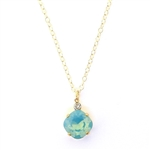 Clara Beau Pacific Opal Swarovski Crystal Necklace - Gold Tone