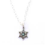 Clara Beau Petite Star of David Swarovski Crystal Necklace - Silver Tone