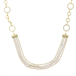 Clara Beau Clear Swarovski Crystal Necklace - Silver Tone