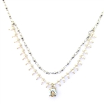 Clara Beau Swarovski Pearl and Crystal Necklace - Silver Tone