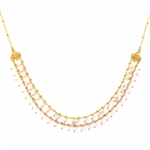 Clara Beau Swarovski Pearl and Crystal Necklace - Gold Tone