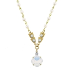 Clara Beau Moonlight Swarovski Crystal Necklace - Gold Tone