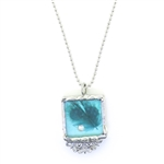Cyndee Whitney Turquoise Feather Necklace Small