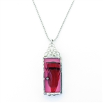 Cyndee Whitney Pink Passion Feather Necklace