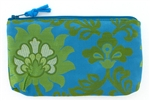 Forgotten Shanghai Turquoise Lotus Silk Pouch
