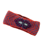 French Knot Athena Headband-Orange
