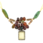 Heather Haase Garnet Buddha Necklace - NK101