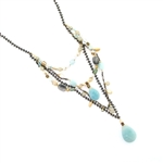 Holly Yashi Tabatha Necklace - Amazonite/Ocean