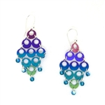 Holly Yashi Renee Earrings - Purple/Turquoise