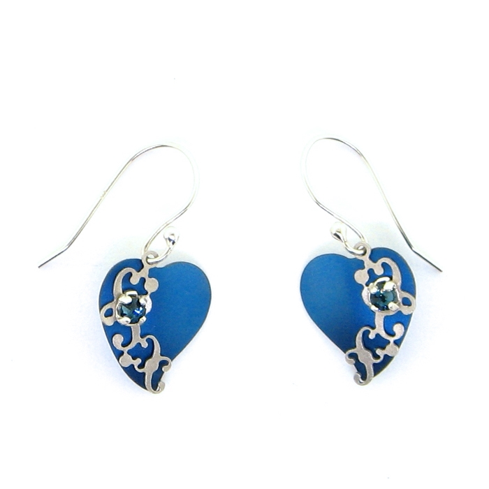 4d099f95fc73b Holly Yashi Petite Atonia Earrings - Blue/Silver