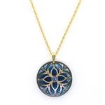 Holly Yashi Tiffany Necklace - Antiqued Gold/Denim Blue