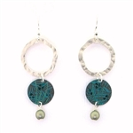 Holly Yashi Storyteller Earrings - Silver/Green