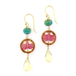 Holly Yashi Clementine Earrings - Watermelon