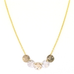 Holly Yashi Laurel Necklace - Gold/Silver