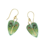 Holly Yashi Procession Earrings - Green
