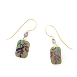 Holly Yashi Evergreen Leaf Earrings - Sage/Purple