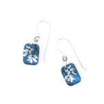 Holly Yashi Evergreen Leaf Earrings - Blue/Silver