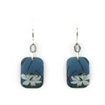 Holly Yashi Blooming Lotus Earrings - Blue/Silver