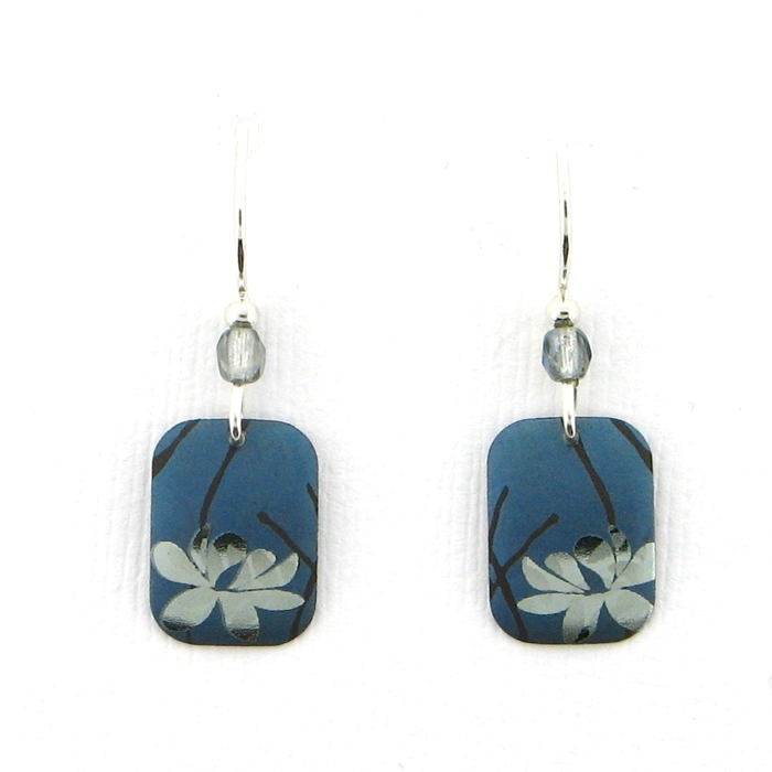 045d10d181589 Holly Yashi Blooming Lotus Earrings - Blue/Silver