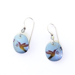 Holly Yashi Hummingbird Nectar Earrings - Blue
