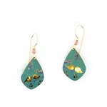 Holly Yashi Lovebirds Earrings - Teal/Peach
