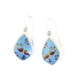 Holly Yashi Lovebirds Earrings - Blue