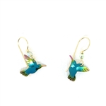 Holly Yashi Hummingbird Earrings - Green