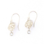 Holly Yashi Square Leaf Earrings - Silver