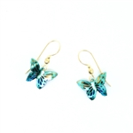 Holly Yashi Butterfly Earrings - Green