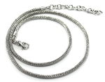 Indiri Herringbone Silver Chain Adjustable 16 - 18 Inches