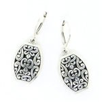 Indiri Sterling Silver Bali Filigree Earrings