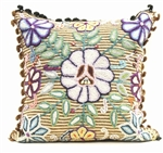 Jenny Krauss Embroidered Floral Pillow