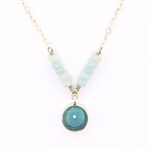 J & I  Amazonite Beaded Necklace