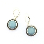 J & I Amazonite Oxidized Silver Earrings