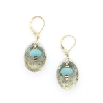 J & I Amazonite Etched Silver Earrings