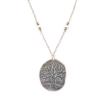 J & I Tree of Life with Pearl Necklace