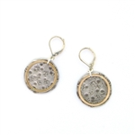J & I Two Tone Oxidized Textured Earrings