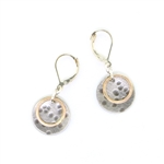 J & I Two Tone Round Earrings