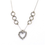J & I Silver Heart Necklace
