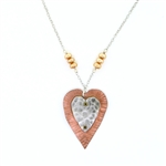 J & I Copper Heart Necklace