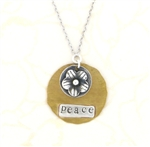 J & I Two-Tone Peace Flower Necklace