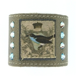 "KBD 2"" Cuff Pewter Leather - Royal Robin"