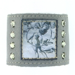 "KBD 2"" Cuff Silver Leather - Angel Protection"