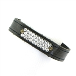 KBD Stacker Cuff with Pave Stones - Silver Shimmer