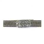 KBD Stacker Cuff Pave Crystal Peace Sign on Sandstone