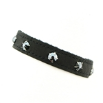KBD Stacker Cuff with Rhinestones - Matte Black